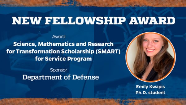 Nuclear Engineering Ph.D. Student Emily Kwapis Awarded SMART Fellowship