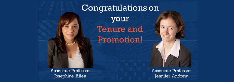 Congratulations on your Tenure and Promotion!